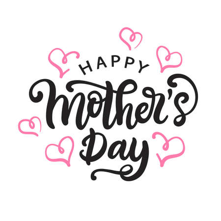 Happy Mothers day card with modern calligraphy 스톡 콘텐츠 - 97345514