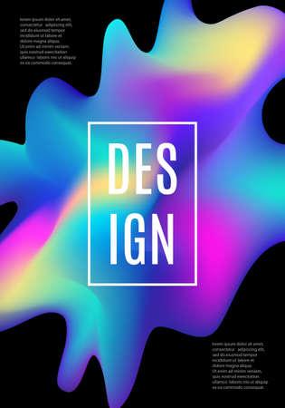Modern dynamic futuristic cover design. Hologram fluid Illustration