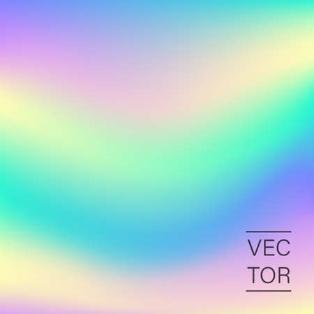 Holographic fashion pastel abstract background Vector illustration. Illustration