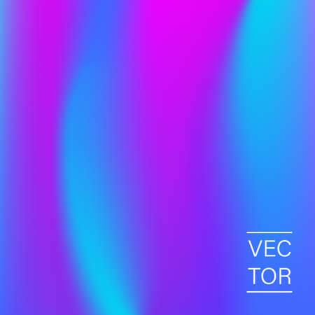 Ultra violet holographic fashion cover Vector illustration.