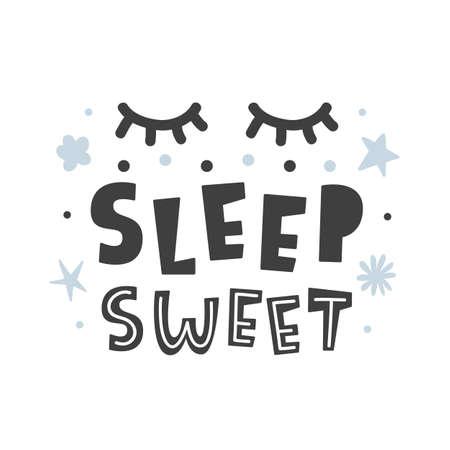 Sleep sweet. Scandinavian style childish poster