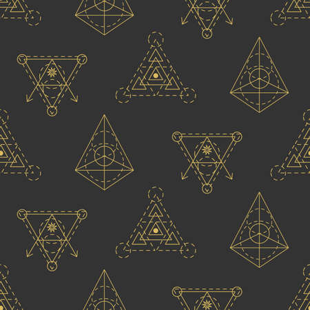 Vector sacred geometry seamless pattern Illustration