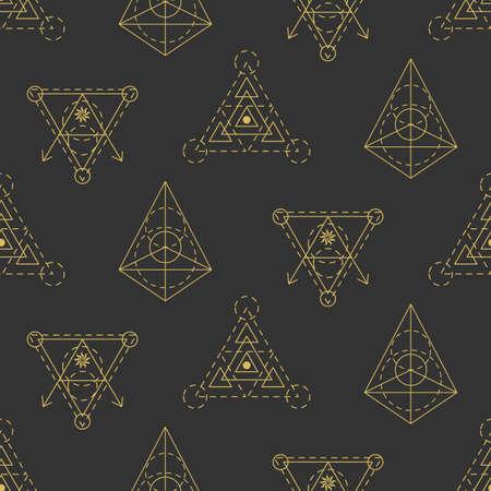 Vector sacred geometry seamless pattern Foto de archivo - 102488948