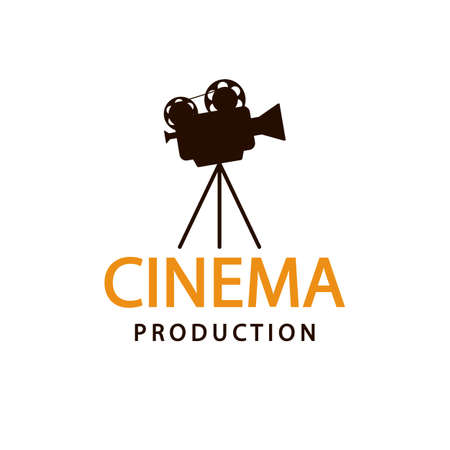 Cinema logo. Vector emblem template