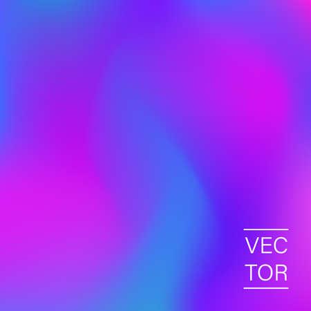 Ultra violet holographic fashion cover Illustration