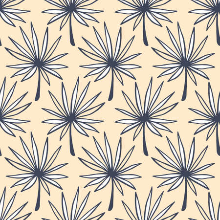 Tropical Leaves seamless pattern. Summer background Illustration