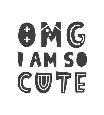 Omg, I am so cute. Scandinavian style childish poster
