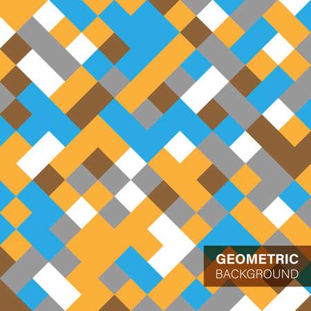Retro geometric covers templates set Illustration