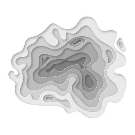 Modern paper cut art design template Banco de Imagens