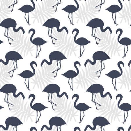flamenco patrón transparente de los pájaros . fondo tropical. ilustración vectorial