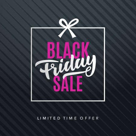 Black Friday Sale Web Banner Background. Advertising Poster Template. Vector illustration