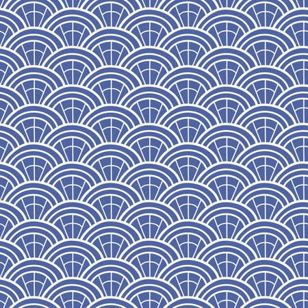 Japanese, Chinese traditional asian blue geometric seamless pattern. Oriental ornament background. Vector illustration Banque d'images - 109045659