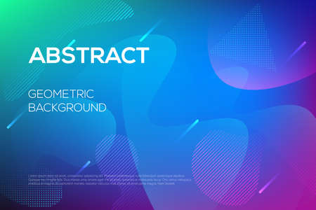Modern dynamic futuristic web design, landing page template. Minimal abstract background with geometric shapes. Eps10 vector illustration for presentation, banner, journal, flyer.
