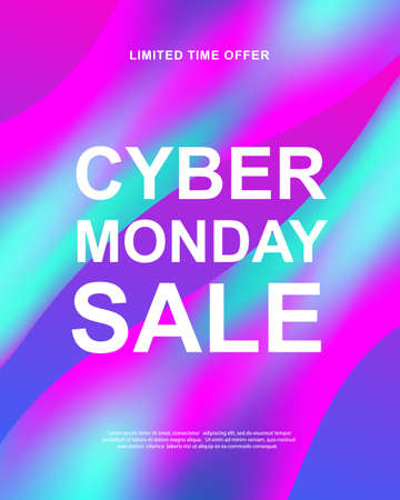 Cyber Monday sale. Vector trendy promotional web banner Ilustrace