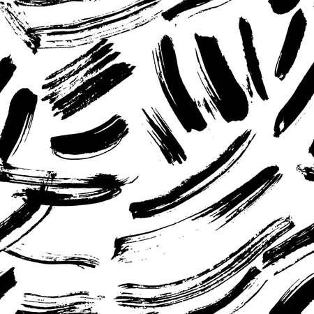 Patrón transparente de vector. Texturas abstractas de tinta grunge dibujados a mano