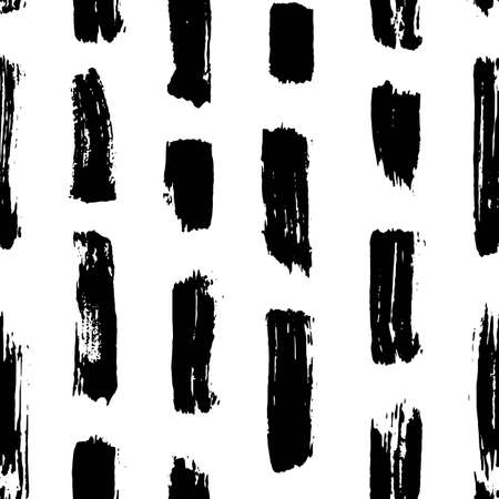 Vector seamless pattern. Abstract hand drawn grunge ink textures
