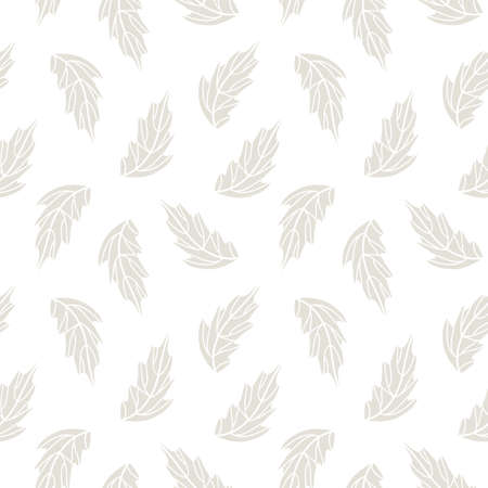 Autumn leaves seamless pattern background. Vector illustration