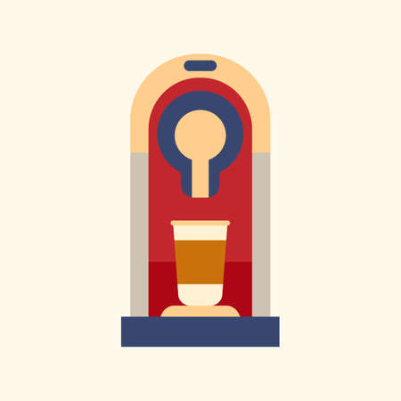 Coffee machine icon, flat style modern design