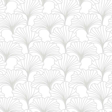 Hand drawn floral seamless pattern. Japanese, Chinese asian nature textile print. Oriental ornament background. Vector illustration Banque d'images - 127302821