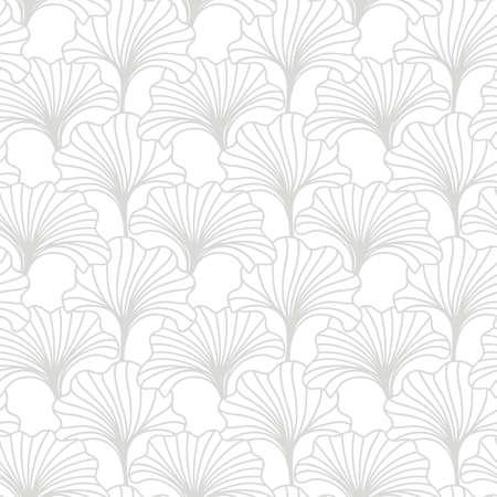 Motif floral sans couture dessiné à la main. Impression textile japonaise, chinoise de nature asiatique. Fond d'ornement oriental. Illustration vectorielle