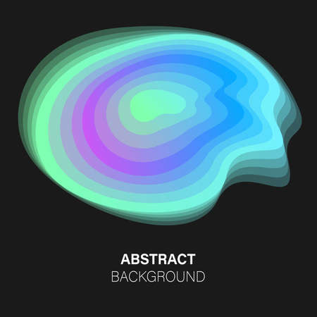 Trendy vector futuristic abstract background