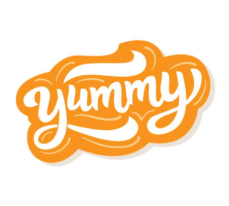 Yummy hand written word Illustration