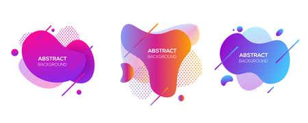Vector conjunto de elementos de cubierta futurista moderno Ilustración de vector