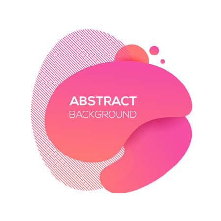 Vector modern futuristic cover element template. Abstract dynamic geometric shapes, isolated on white. Trendy minimal coral gradient website and branding design. Cool poster background.