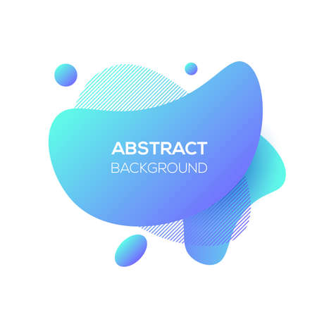 Vector modern futuristic cover element template. Abstract dynamic geometric shapes, isolated on white. Trendy minimal blue gradient website and branding design. Cool poster background.