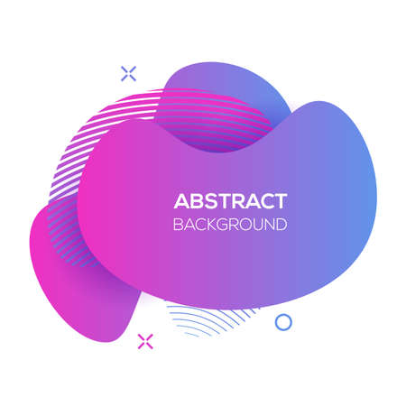 Vector modern futuristic ultra violet cover element. Abstract dynamic geometric shapes, isolated on white. Trendy minimal colorful website and branding design. Cool poster background.
