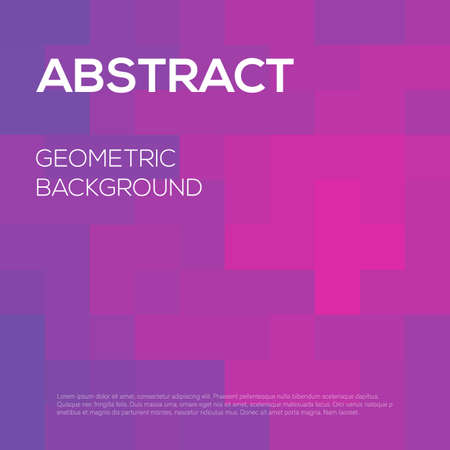 Modern futuristic abstract geometric cover. Minimal colorful trendy template design. Cool gradient shapes. Poster background composition. Vector illustration
