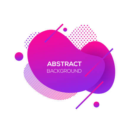 Vector modern futuristic cover element template. Abstract dynamic geometric shapes, isolated on white. Trendy minimal colorful website and branding design. Cool poster background.