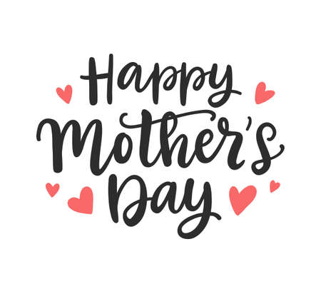 Happy Mothers Day modern calligraphy Background