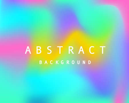 Holographic retro 80s, 90s vector futuristic cover. Abstract poster, flyer template. Mesh gradient shapes. Trendy minimal colorful branding design background. Ilustrace