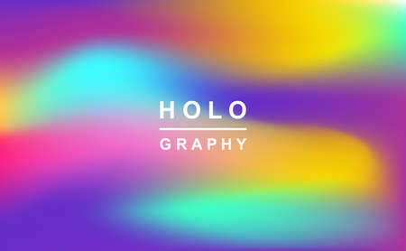 Holographic retro 80s, 90s vector futuristic cover. Abstract poster, flyer template. Mesh gradient shapes. Trendy minimal colorful branding design background. Illusztráció