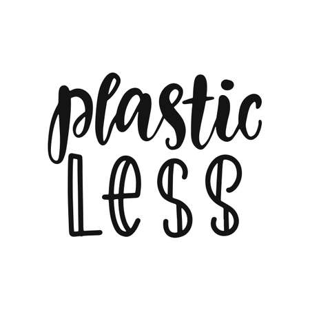 Plastic less vector hand lettering