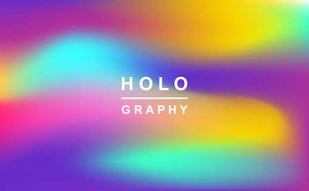 Holographic retro 80s, 90s vector futuristic cover