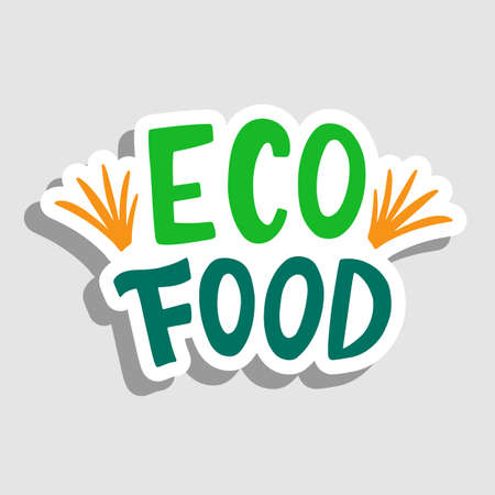 Eco food vector sticker, sign badge