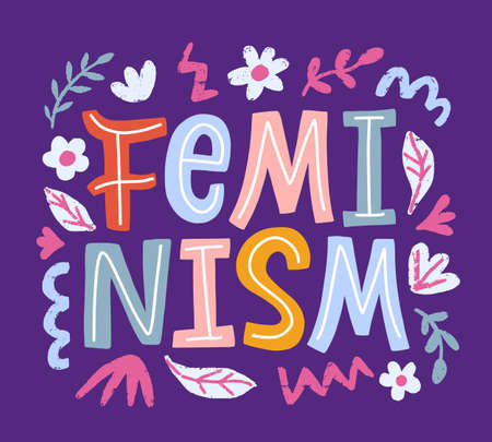 Feminism movement creative poster Иллюстрация