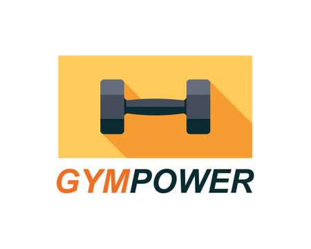 Fitness gym logo sign, bodybuilding club emblem template Иллюстрация