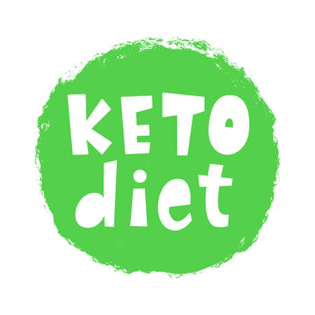 Keto diet vector badge sign Иллюстрация