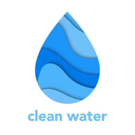 Water drop logo design template Иллюстрация