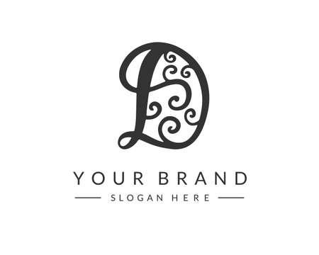 D Letter Logo Design Template Ilustração