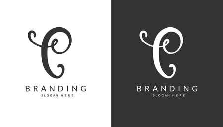 C Letter Logo Design Template Illustration