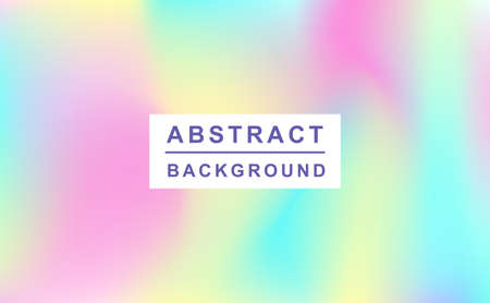 Holographic retro 80s, 90s vector futuristic cover. Abstract poster, flyer template. Mesh gradient shapes. Trendy minimal colorful branding design background. Иллюстрация