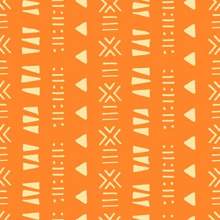 Modèle sans couture tribal vecteur créatif. Ethnique abstrait géométrique africain fait à la main, ornement aztèque pour la conception textile et de surface, emballage, papier peint, toile de fond de page Web, papier d'emballage,