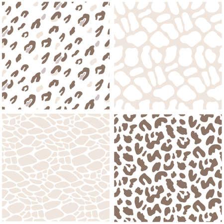 Animal print seamless pattern. Leopard skin texture