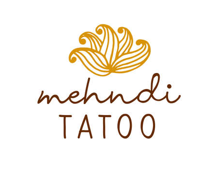 Henna mehndi drawing ethnic tatoo design  イラスト・ベクター素材