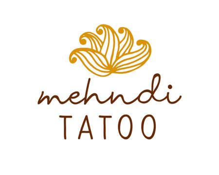Henna mehndi drawing ethnic tatoo design Illustration