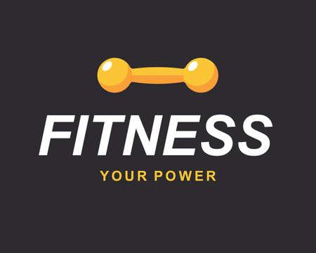 Fitness gym sign, bodybuilding club emblem template Çizim